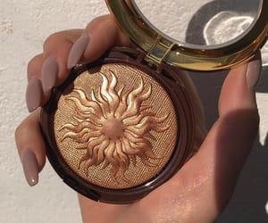 makeup, nails, and sun image