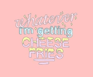 cheese, pink, and cheese fries image
