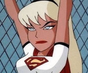 cartoon, Supergirl, and mood image