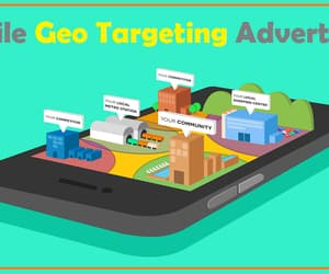 geofencing advertising, geo fence advertising, and geofencing targeting image