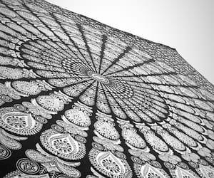 black and white, decor, and mandala image