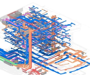 mep engineering services, clash detection services, and bim coordination modeling image