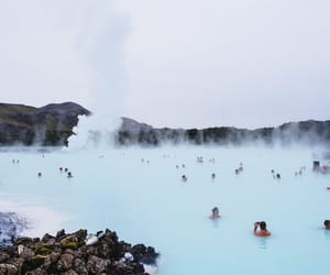iceland, travel, and blue lagoon image