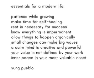 essentials, quote, and thought image