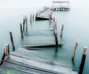 caminho, mar, and ponte image