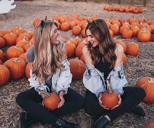 pumpkin, autumn, and girl image