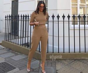 fashion style, brune brunette, and sunglasses glasses image