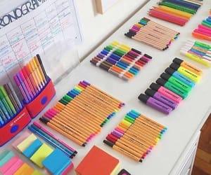 desk, organisation, and study image
