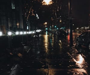 night, rain, and city image