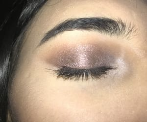 eyebrows, love, and eyeshadow image