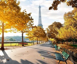autumn, eiffel tower, and fall image