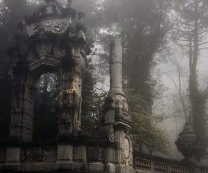 architecture, dark, and smoke image