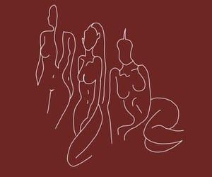 girl, maroon, and burgundy image