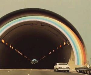 cities, rainbow, and vintage image