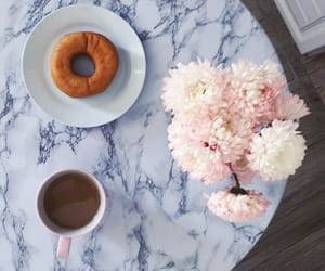 coffee, flowers, and marble image