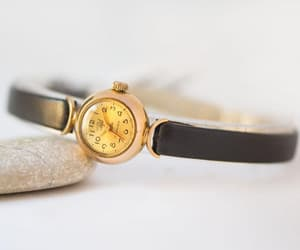 etsy, gold, and watch for girl image