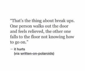 break, saying, and break up image