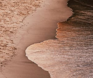 beach, sea, and gold image