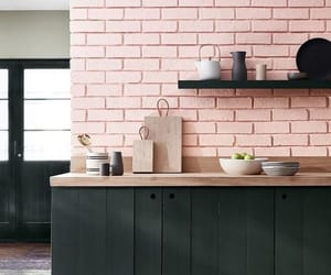 pink, home, and kitchen image
