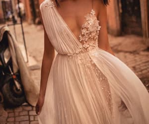 dress, white, and beauty image