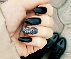 black, nails, and silver image