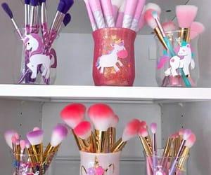unicorn, Brushes, and make up image