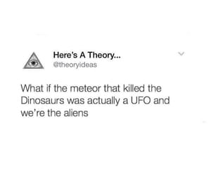 aliens, crazy, and dinosaur image