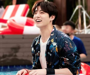 happy, korea, and laugh image