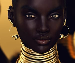 beauty, gold, and African image