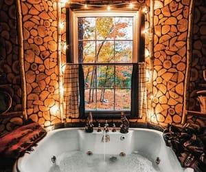 autumn, fall, and bathroom image
