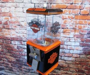 collectibles, gumball machine, and harley davidson image