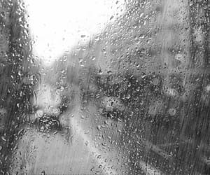 black and white, gif, and rain image