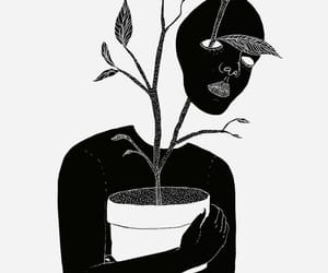 plants, black, and art image