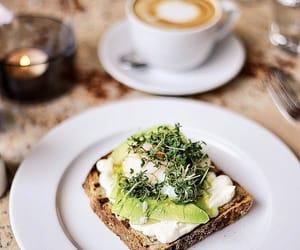 avocado, egg, and toast image