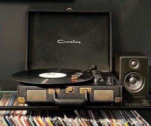 music, black, and records image