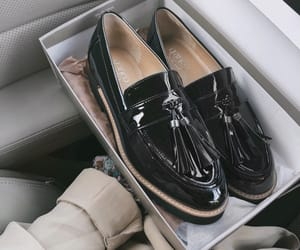 black, black shoes, and fancy image