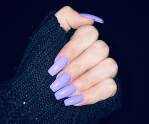 fashion, nails, and purple image