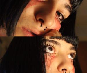 black, blackhair, and suicidegirl image