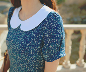 blue, fashion, and collar image