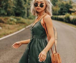 green, dress, and francis lola image