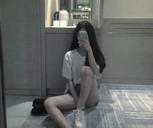 asian, girl, and phone image