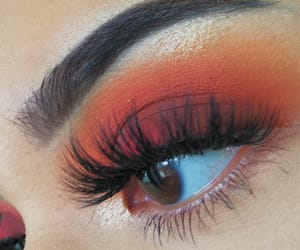 eye makeup, fall, and girl image