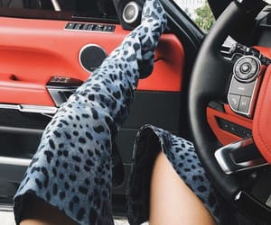 animal print, boots, and cool image