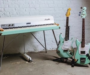 aqua, bass, and guitar image