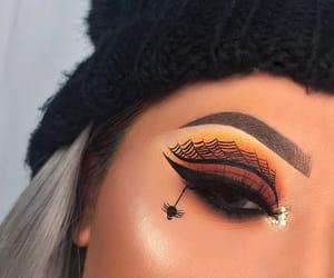black, eyeshadow, and Halloween image