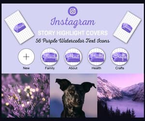 etsy, purple, and instagram stories image