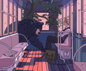 art, bear, and illustration image