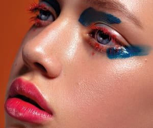 beauty, blue, and cosmetics image