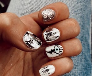 beauty, nails, and silver image