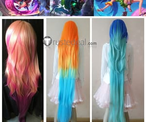 league of legends, lol cosplay wigs, and zoe cosplay wig image